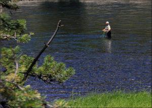 fly fishing wading