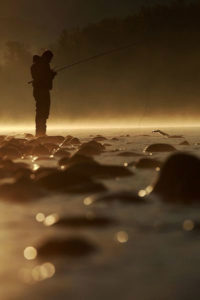 fly fishing foggy