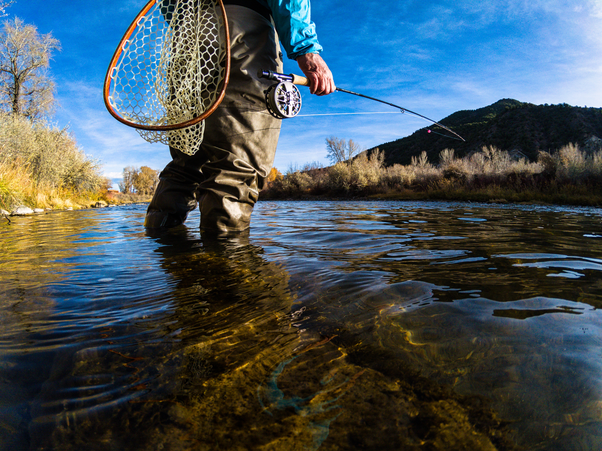 wading fly fishing