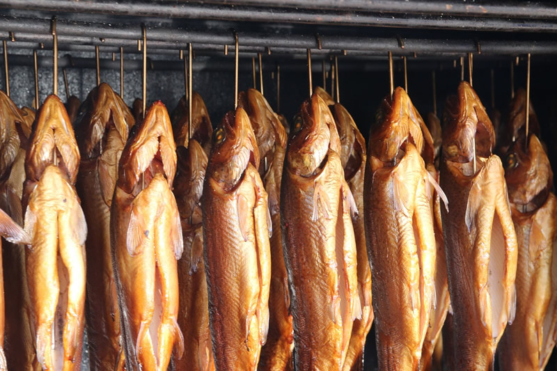 trout in smoker